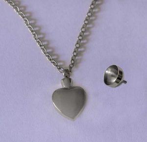heart ashes pendant