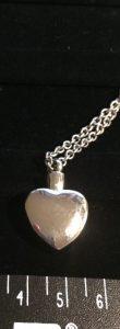 silver ashes pendant