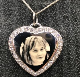 photo engraved jewellery
